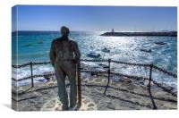 Playa Blanca Statue, Canvas Print