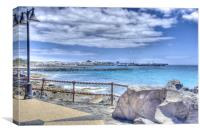 Playa Blanca Promenade, Canvas Print