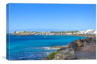 Playa Blanca, Canvas Print