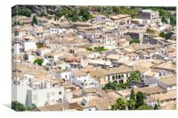 Rooftops of Pollensa Town, Canvas Print