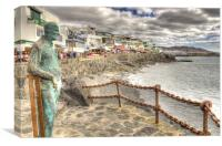 Playa Blanca Sea front, Canvas Print