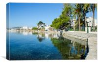 Beautiful Pine Walk Puerto Pollensa, Canvas Print