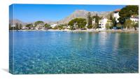 Clear Waters Of Puerto Pollensa, Canvas Print