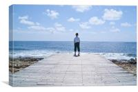 Boy in Cyprus, Canvas Print