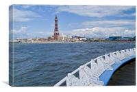 Blackpool Tower from the Central Pier, Canvas Print