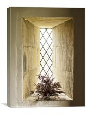 The Church Window, Canvas Print