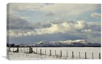 View To The Pentlands, Canvas Print