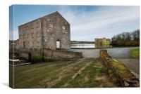 Carew Castle and Tide Mill, Canvas Print