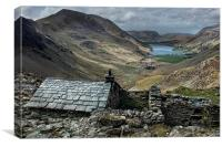 Old Quarry hut - Buttermere , Canvas Print