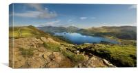 Cat bells and derwent water from maiden moor, Canvas Print