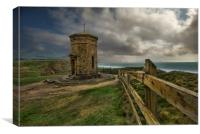 The storm tower Bude, Canvas Print