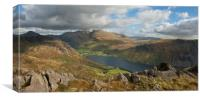 Wastwater and Scafell Pike , Canvas Print