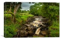 Cotter Beck Yorkshire, Canvas Print