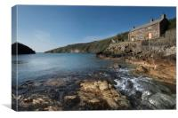 Port Quin Cornwall , Canvas Print