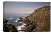 Long exposure of the crown engine houses , Botalla, Canvas Print