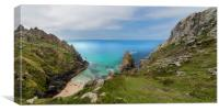 Porthmoina cove west Penwith Cornwall, Canvas Print