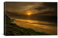 Watergate bay Cornwall , Canvas Print