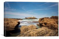 Godrevy lighthouse Cornwall, Canvas Print