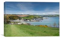 Polridmouth cove Cornwall, Canvas Print