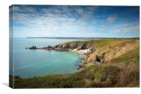 Lankidden cove  Cornwall, Canvas Print
