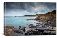 Pestreath cove Cornwall, Canvas Print