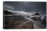 Long exposure Sandymouth beach, Canvas Print