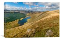 Hayeswater from high street Lake district, Canvas Print