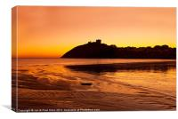 Criccieth Castle, Canvas Print