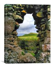The View Dunluce Castle, Canvas Print