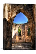 Chapel Doorway, Canvas Print