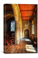 St Leonard Church - Downham, Canvas Print