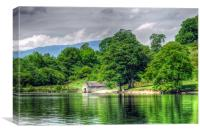 The Boat House - Lake Windermere, Canvas Print