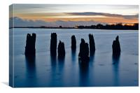 jetty remains, Canvas Print