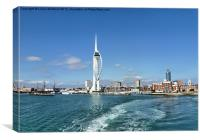 Leaving Portsmouth Harbour, Canvas Print
