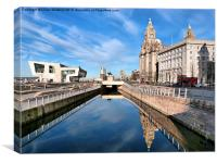 The Pier Head Liverpool., Canvas Print