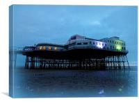 North Pier at Dusk., Canvas Print