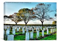 La Brique War Cemetary., Canvas Print