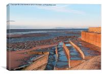 Sea Defences at Anchorsholme., Canvas Print