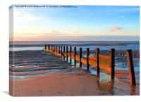 Anchorsholme Beach.Lancashire., Canvas Print