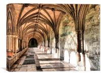 The Cloisters of Northwich Cathedral., Canvas Print