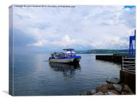 Dunoon Harbour., Canvas Print