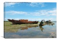 Decommissioned Trawlers., Canvas Print
