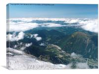 Chamonix France from above the clouds, , Canvas Print