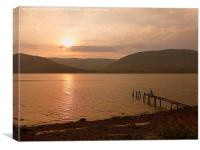 Sunset over Loch Linnhe , Canvas Print