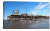 South Pier Blackpool, Canvas Print