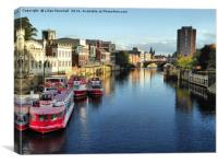 River Ouse York., Canvas Print