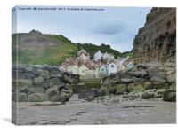 Staithes Fishing Village, Canvas Print