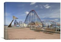 South Promenade , Blackpool, Canvas Print