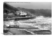 Sandsend Beach Scarborough. , Canvas Print