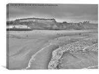 West Cliff Whitby. , Canvas Print
